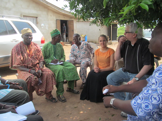 "Discussing ""Human Rights Perceptions Polls"" with community leaders, Oyo State, Nigeria (October 2014)"