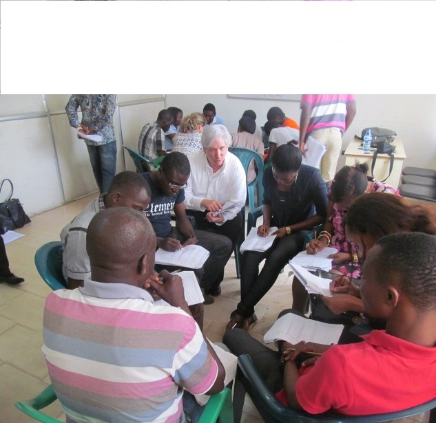"Training survey enumerators, ""Human Rights Perceptions Polls,"" Lagos, Nigeria (October 2014)"