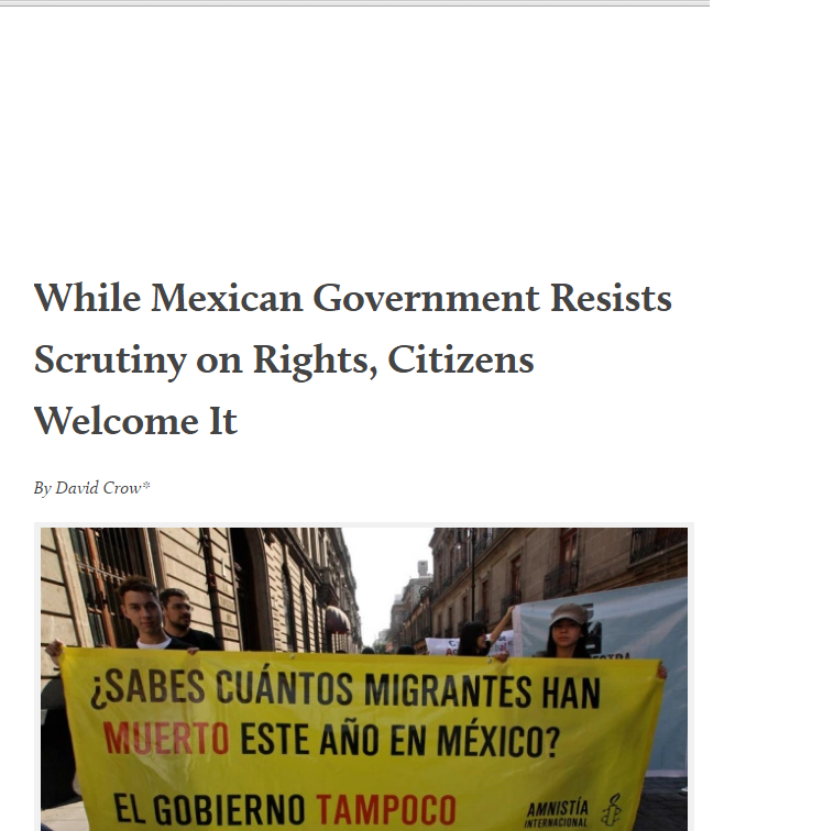 """While Mexican Government Resists Scrutiny, Ordinary Citizens Welcome It,"" my blog post with MAM data (April 2015)"