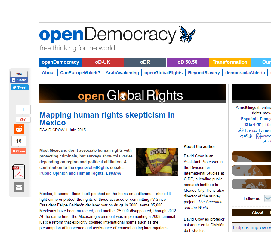 """Mapping human rights skepticism in Mexico,"" openGlobalRights (July, 2015)"